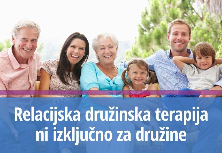 Relacijska družinska terapija ni izključno za družine